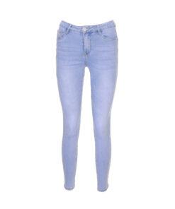 Jeans skinny lavaggio chiaro con cuciture push up