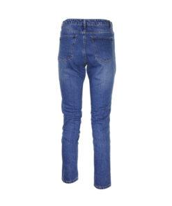 Jeans a sigaretta lavaggio medio. Vita alta